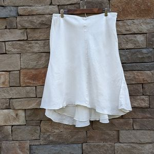 Max Studio Specialty Products Linen White Skirt 14